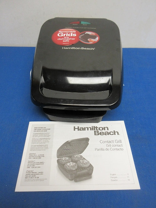 Hamilton Beach electric contact grill with removaable grids