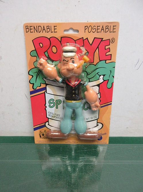 Vintage bendable posable Popey figure in original package
