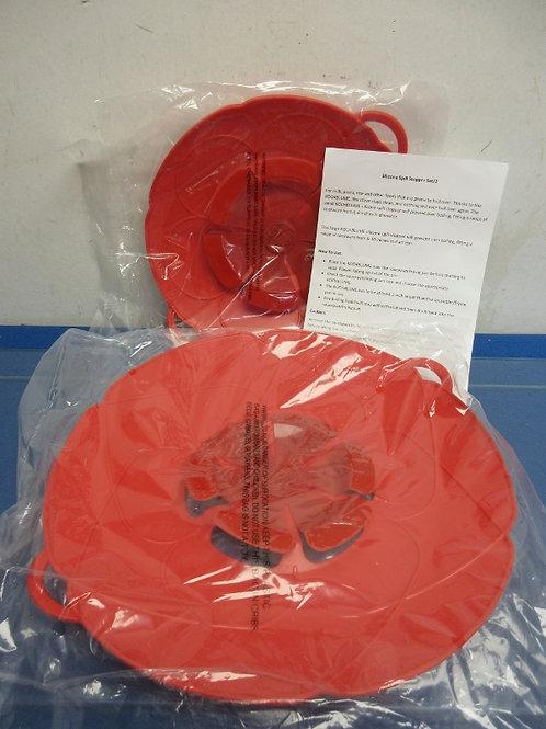 Kochblume set of 2 spill stoppers, red