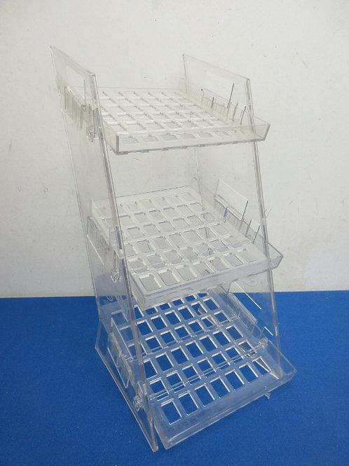 Plastic 3 tier display rack