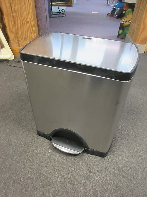 Simple Human stainless rectangular step on waste can with rigid plastic liner 10