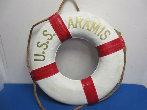 U.S.S. Aramis decorative lifesaver with rope