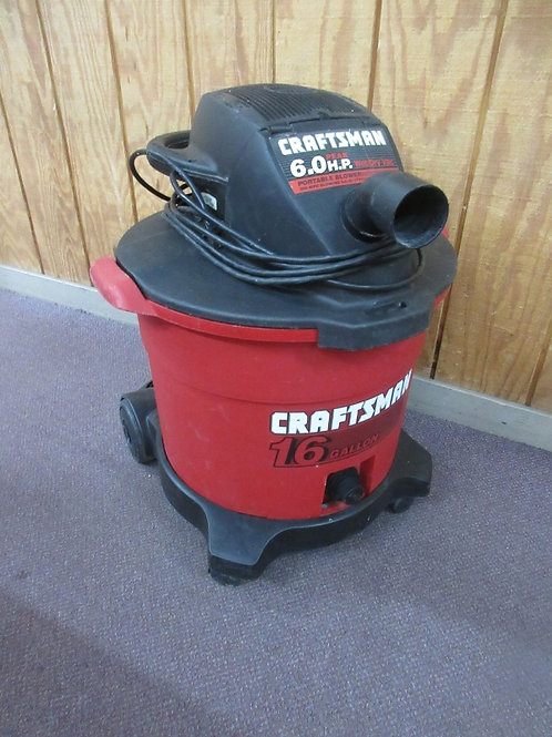 Craftsman 16 gallon shop vac with hose and attachments