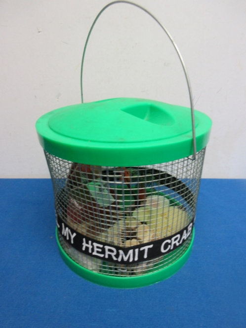 """""""My Hermit Crab Hotel"""" small round cage with handle and accessories"""