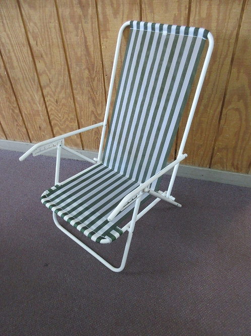 Lawn chair with nylon mesh seat and back