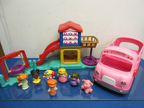 Fisher Price Little People park & playground w/school bus & 6 people
