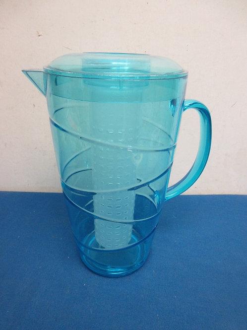 Blue plastic fruit infusion pitcher