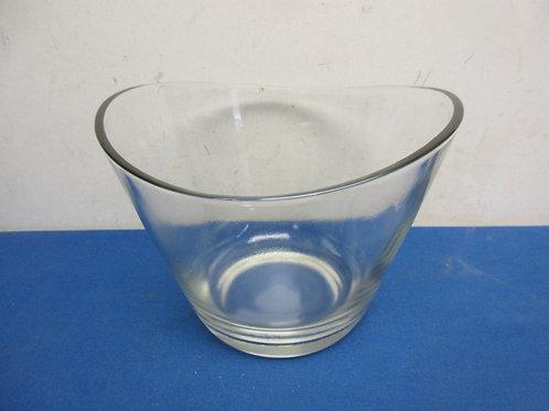 Heavy glass salad bowl