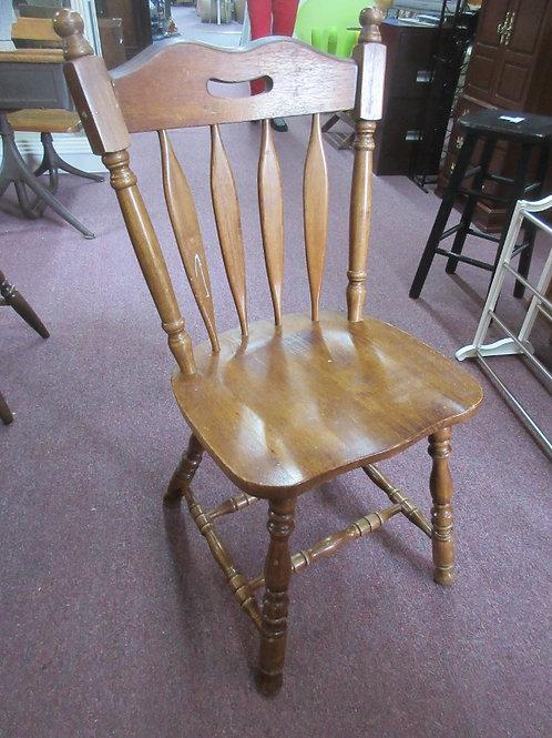 Vintage brown slat back chair