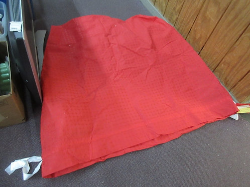 """Xlarge red cloth gift bag - could fit a kids bike -  46x20x56"""""""