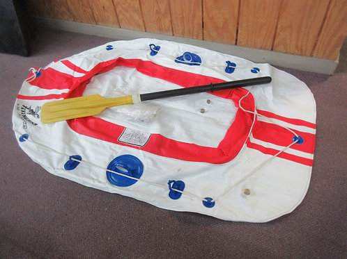 Flying Fish inflatable one person boat with oar and patch repair kit