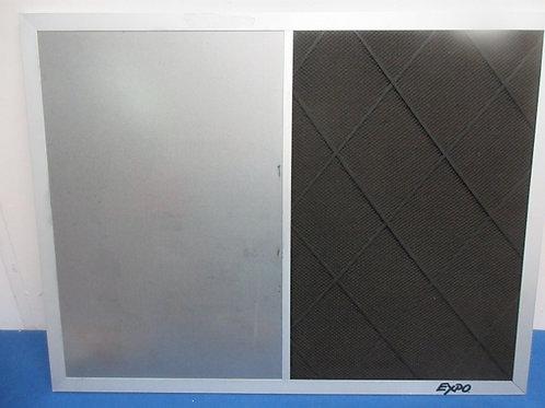 "Black & silver bulletin board, 18x24"""