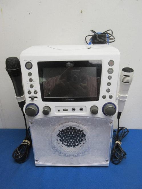Singing Machine Karaoke machine -led lights, monitor, 2 mics, tested