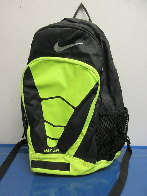 Max Air black and lime green back pack