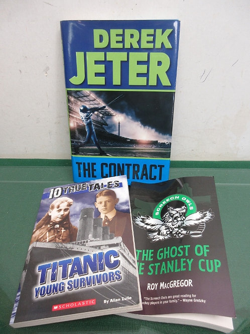 Set of 3 chapter books for young adults - 10 true tales, ghost of stanley cup an
