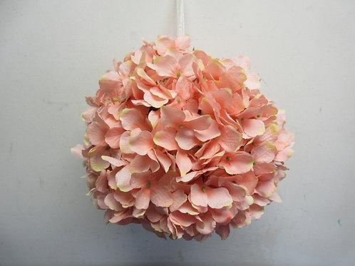 "Wicker Park 11"" faux floral indoor/outdoor hydrangea sphere - pink - new"
