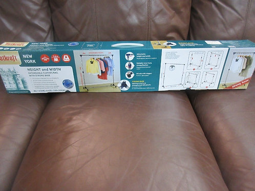 Tatkraft extendable clothes rail with strong base - new in box - 2 avail