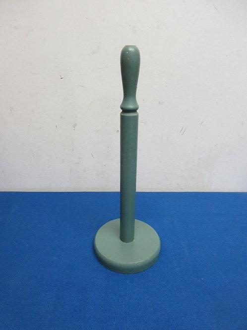 Green wood counter top papertowel holder