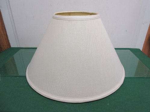 "Lamp shade beige with wide bottom/18"" diameter bottom"