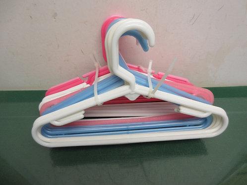 Set of 23 children's hangers - assorted colors