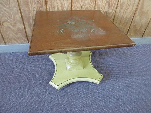 "Hitchcock square low pedestal end table 20x20"""