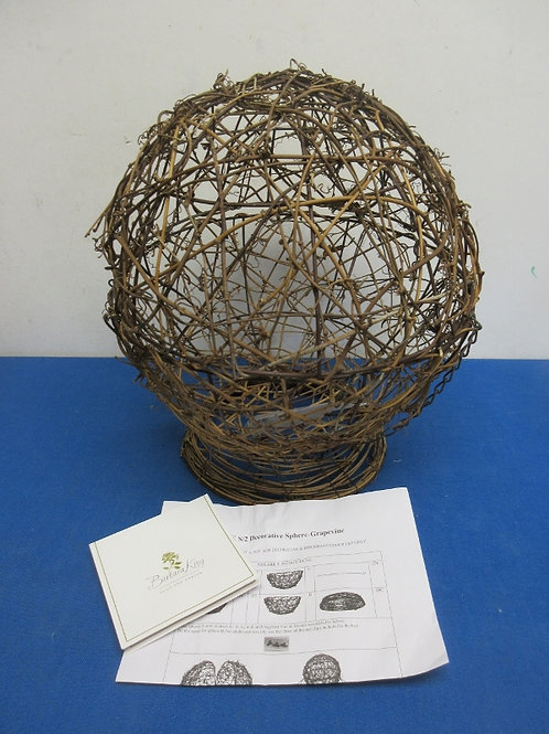 Barbara King grapevine,bronze metal  decorative sphere with base, 5 available