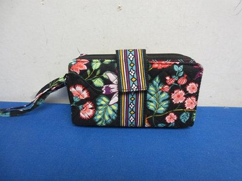 Vera bradley black clutch purse/wallet with RFID portection