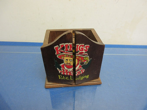 Vintage Kings Pub and Lodging wooden set of coaster dart boards in wooden cabine