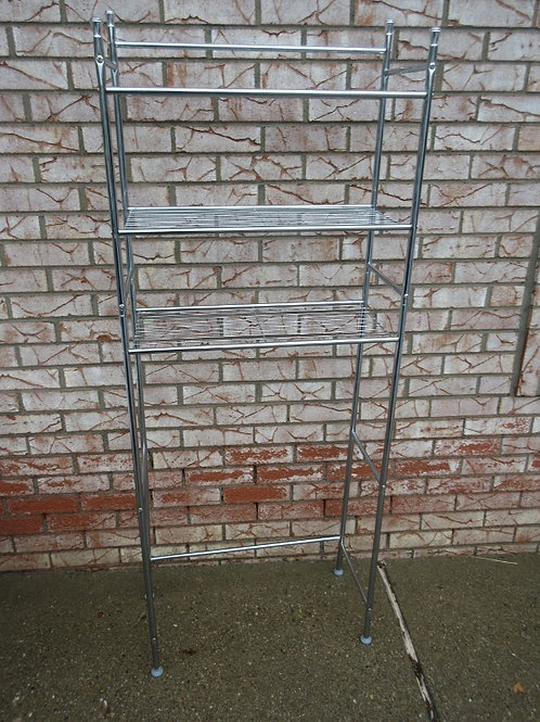 """Silver 3 shelves over the toilet unit,11x23x60""""high"""
