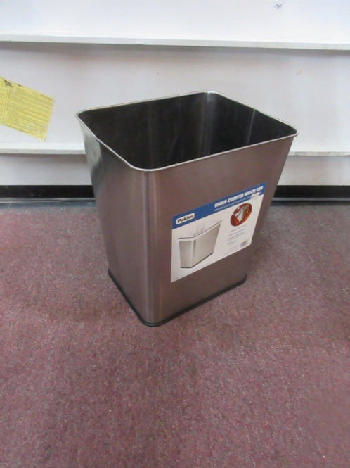 """Polder stainless waste can, 7 gallon, 14x10x15"""" high"""