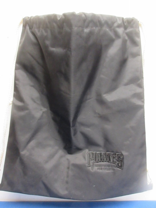 Pirates heavy black vinyl tote/back pack