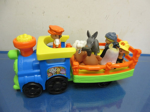 Fisher Price little people zoo train with 4 animals and 3 people