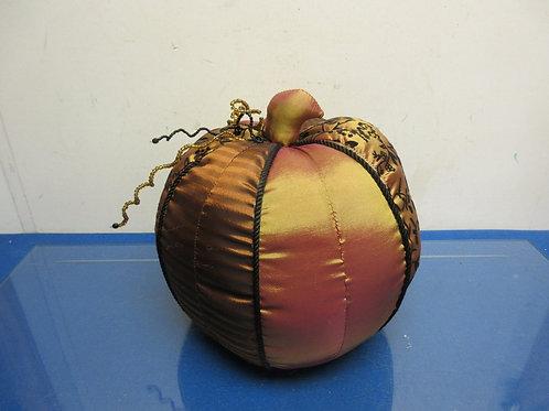 "Fabric irridescent satin gold/brown pumpkin - 10"""