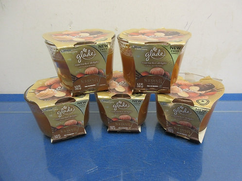 Set of 5 Glade scented jar candles - NEW