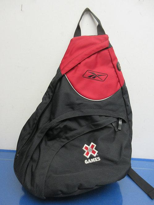 Reebok black and red crossbody back pack