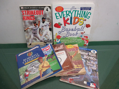 Set of7 baseball books for children
