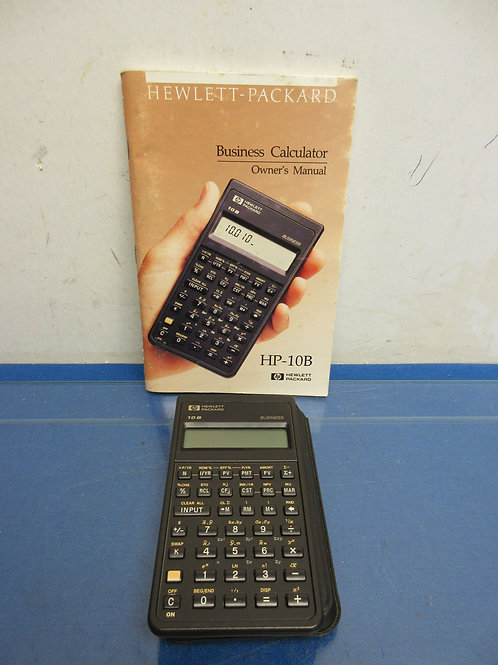 HP business calculator with manual