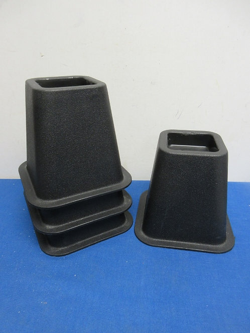 """Set of 4 black bed risers, each 6"""" high"""