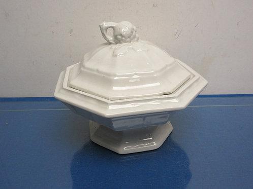 White ceramic soup tureen