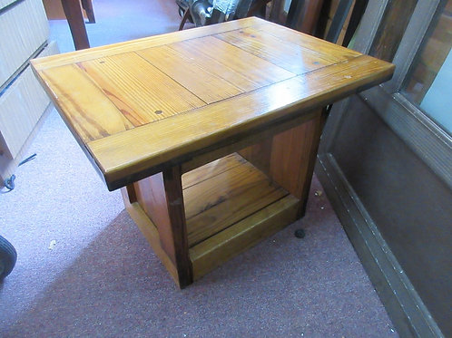 """This End Up heavy wooden end table 20x27x19""""high"""