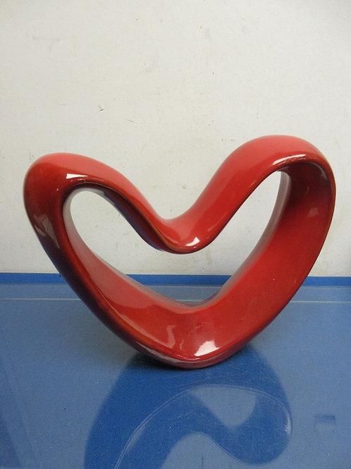 """Decorative ceramic red heart 12"""" x 10"""" high"""