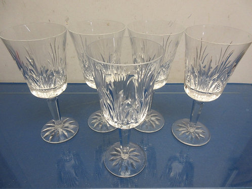 Set of 5 stemmed wine glasses
