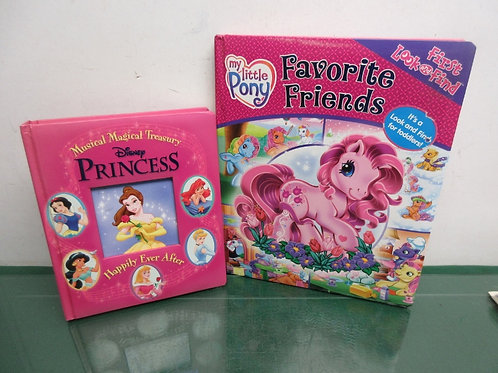 Pair of hardback childrens books, disney princess happily ever after & my little