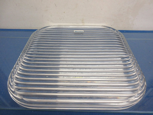 Villeroy and Boch heavy glass tray with ribbed pattern 12x12