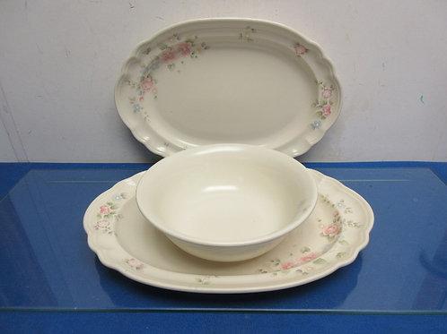 "Pfaltzgraffz ""tea rose"" serving bowl and 2 platters"
