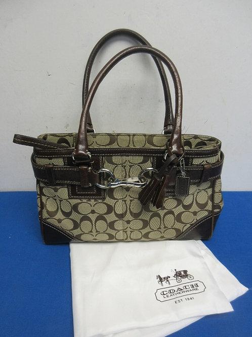 Brown classic signature coach purse