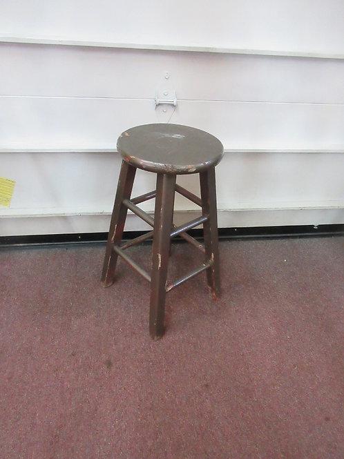 """Basic shorter wood stool, round seat 24""""high"""