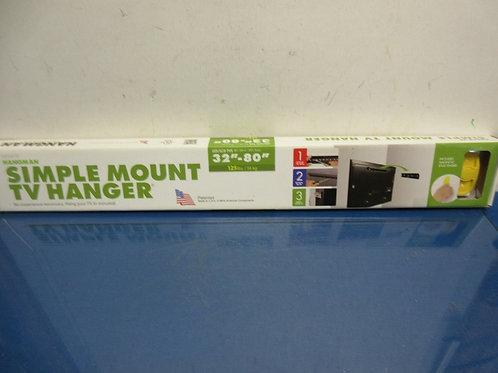 "Hangman simple mount tv hanger - for 32"" to 80"" tv - in box"