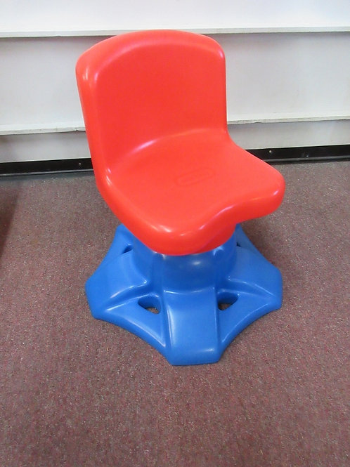 Little Tikes red and blue swivel desk chair