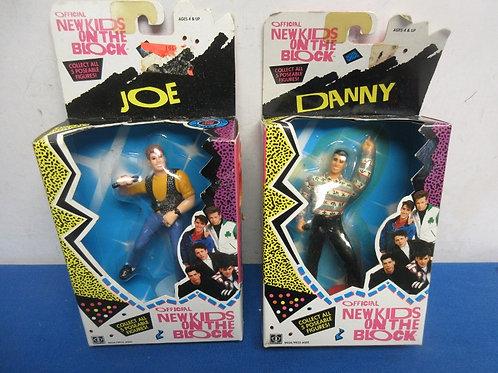 Pair of vintage new kids on the block figures in original packages - Danny & Joe